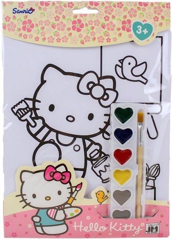 Hello Kitty Kleurplaten A4.Bol Com A4 Schilderset Hello Kitty Hello Kitty Speelgoed