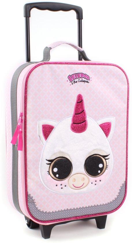 Lulupop EENHOORN Trolley Koffer Vakantie Kinderkoffer Handbagage Roze Lief