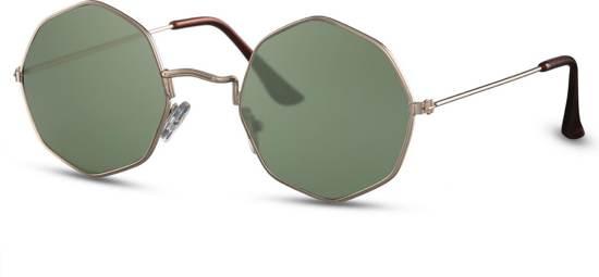 868783c0ee948b Cheapass Zonnebrillen - Ronde zonnebril - Goedkope zonnebril - Groen -  Trendy