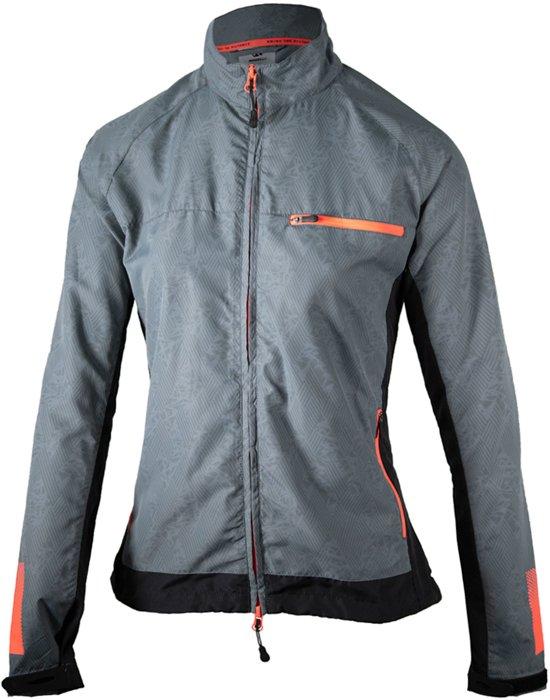 Rogelli Dynamic Hardloopjack Dames Sportjas - Maat XL  - Vrouwen - grijs/zwart/oranje