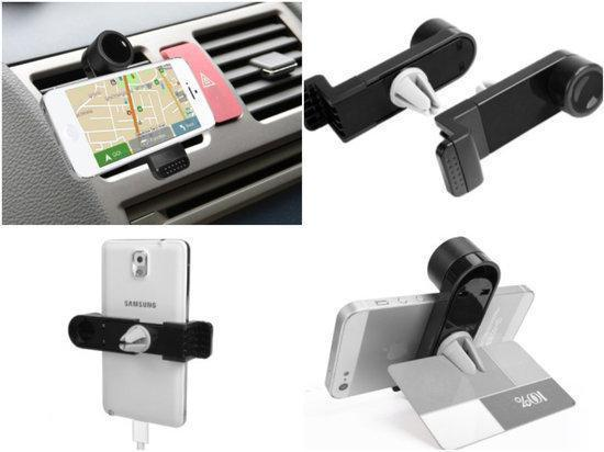 Universele Autohouder Ventilatiehouder voor iPhone 3,4, 5, 5s & iPod modellen Car Holder en Bureauhouder