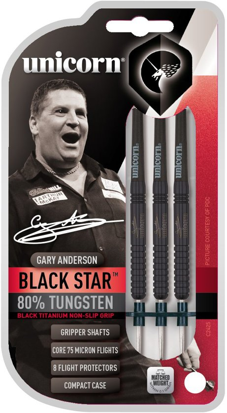Unicorn Blackstar Gary Anderson Dartpijlen - Gripper shafts -