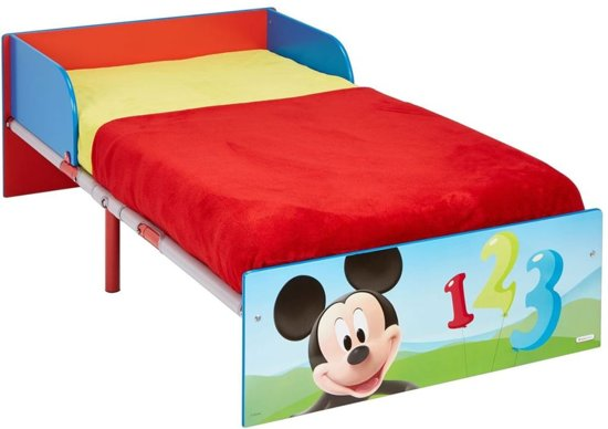 Mickey Mouse Nachtkastje.Bol Com Disney Peuterbed Mickey Mouse Rood 143x77x43 Cm Worl119013