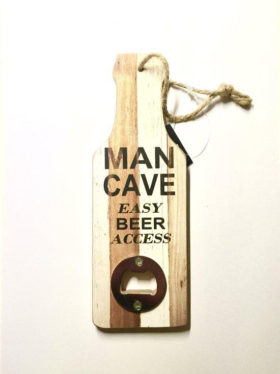 3d8d7bc5b09 Flesopener Tekst Voor Aan De Muur Mancave Houten Fles Opener Gadget Cadeau  Verjaardag