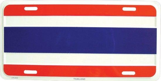 Kentekenplaat Thailand thema versiering