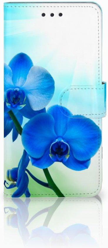 Samsung Galaxy S7 Edge Uniek Boekhoesje Orchidee met Opbergvakjes in Beemte Broekland