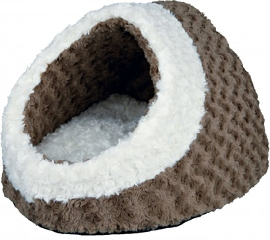 Trixie kattenmand iglo kaline taupe / creme 35x26x41 cm