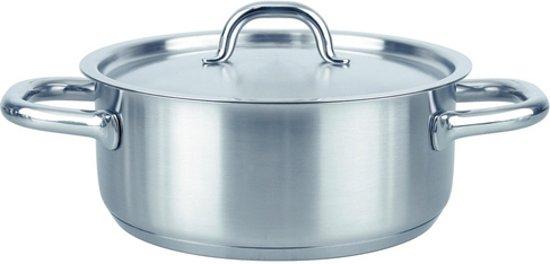 Fissler family line kookpan laag met rvs deksel, 24cm