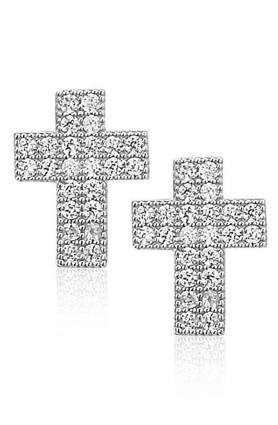 Montebello, zilveren kruis oorbellen, Molinia