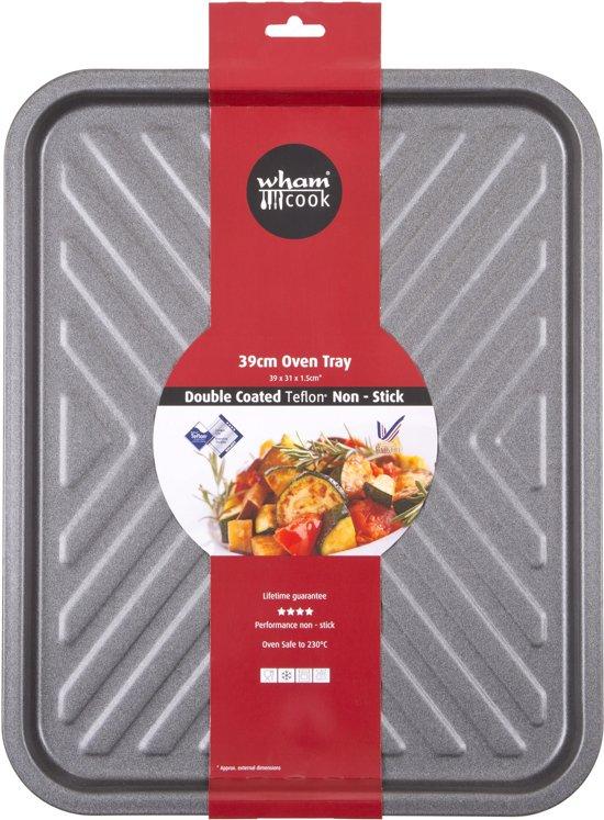 Wham Cook Essentials Bakplaat - Non Stick - Vierkant - Met Chevrons - 39 cm Valentinaa