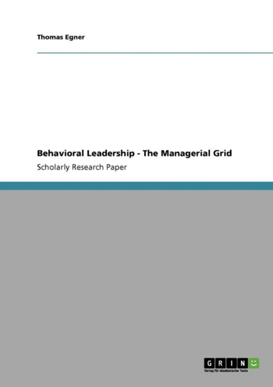 concept of managerial grid