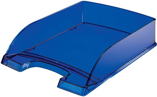10x Leitz brievenbakje Plus 5226 blauw transparant