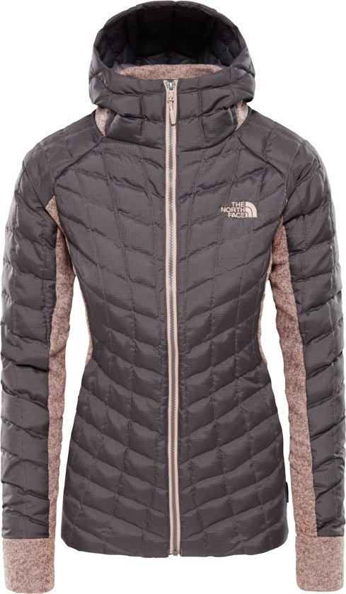 d8acff5053b The North Face Thermoball Hybrid Glacier Hoodie Jas Dames - Rabbit  Grey/misty Rose Heather