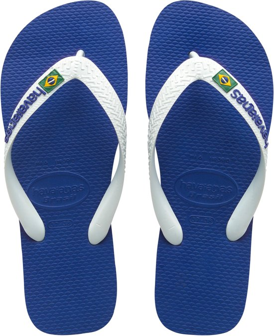 33 Logo Blauw 34 Havaianas Brasil Unisex Slippers Maat annAWOq