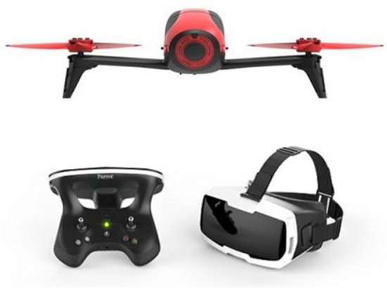 Parrot Bebop Drone 2 + controller + FPV bril - Rood