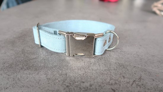 Klik halsband zeeblauw