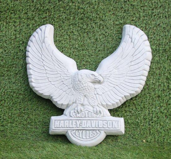Decoratie Aan De Muur Buiten.Tuinbeeld Harley Davidson Voor Aan De Muur Decoratie Voor Binnen Buiten Beton