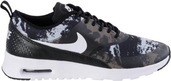 be7f90069f5 bol.com | Nike Thea Print - Sneakers - Vrouwen - Maat 41 - Zwart/Wit ...