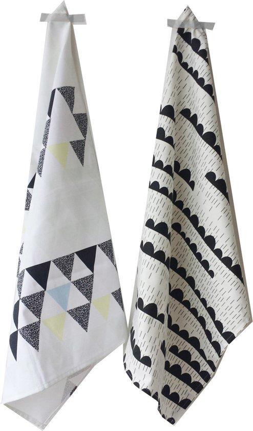 Theedoek Zwart Wit.Bol Com Studio Lilesadi Rainy Days Soft Triangles