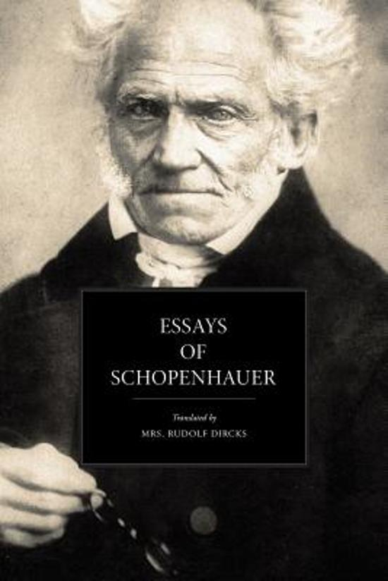 thomas mann essay schopenhauer Essay on visconti's interpretation of mann symbolism in thomas mann's story \ essay through contemporary influences such as schopenhauer and nietzsche, mann.