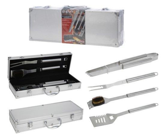 Koffer voor Barbecue-Accessoires (4 stuks)