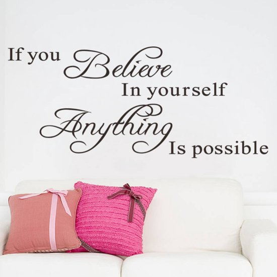 Bolcom Week Actie Muursticker If You Believe In Yourself