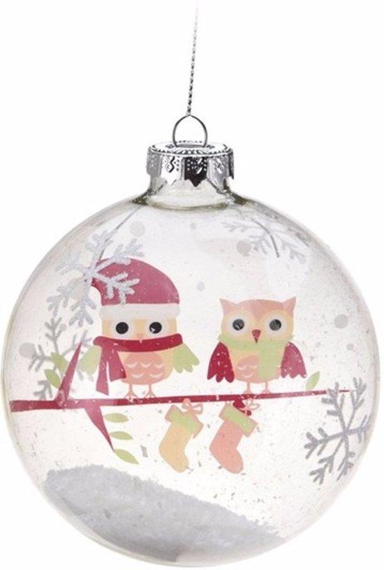 Bol Com Kerstboom Decoratie Kerstbal Roze Uiltjes 7 Cm
