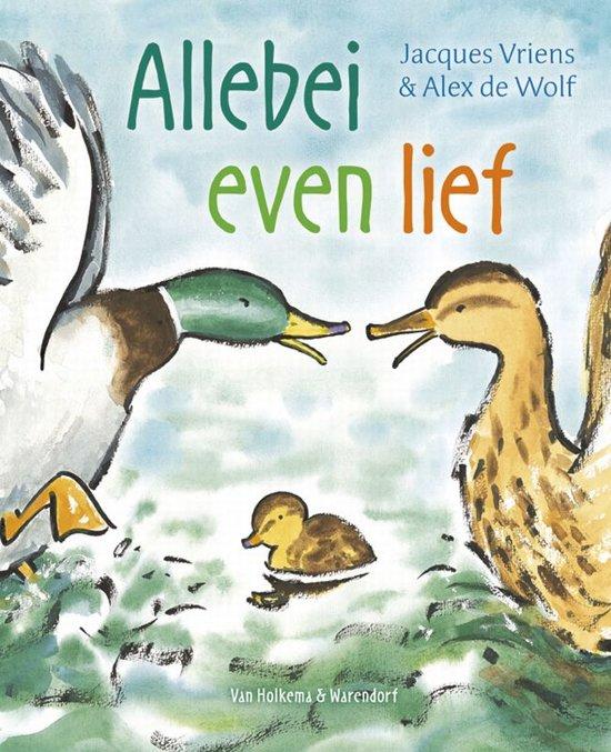 Cover van het boek 'Allebei even lief' van Jacques Vriens