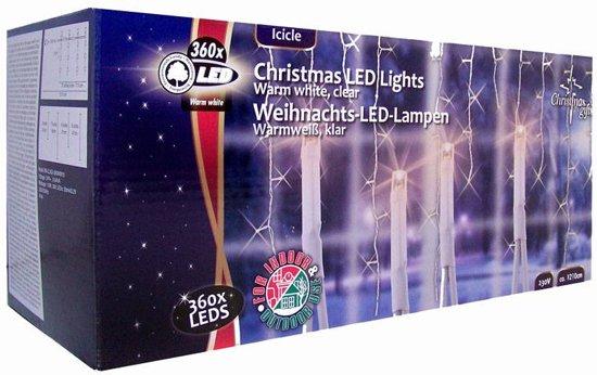 led kerstverlichting ijspegels licht warm wit 360xled 710 cm