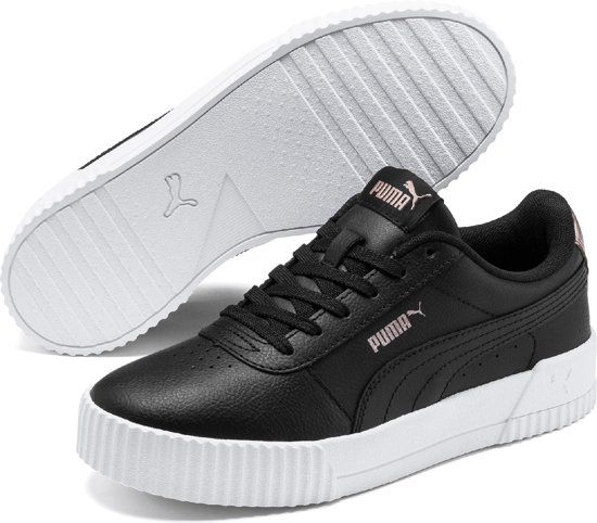 PUMA Carina RG Wn's Dames Sneakers - Puma Black-Puma Black-Rose Gold - Maat  36