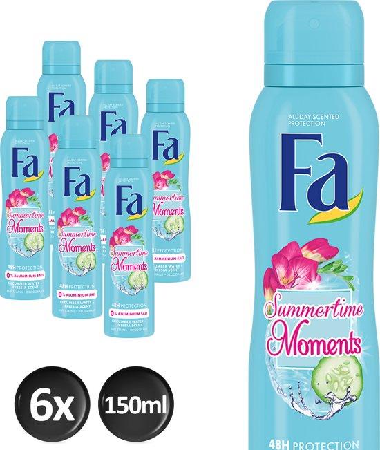 Fa Summertimes Moments Deodorant Spray 150 ml - 6 stuks - Voordeelverpakking