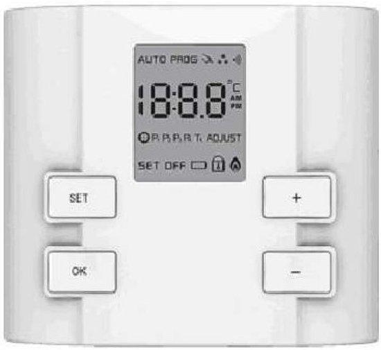 Exclusive compact opbouw thermostaat (geen wifi), bedraad, 5A, batterijgevoed
