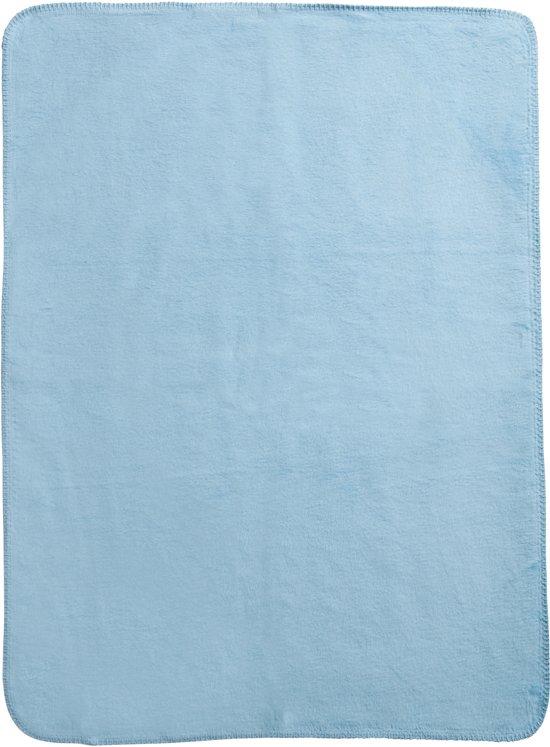 Meyco Double Face Wiegdeken - 75x100 cm - Wit/Lichtblauw