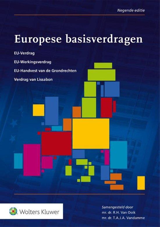 Boek cover Europese basisverdragen van  (Paperback)