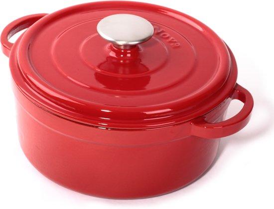 Cuisinova Braadpan Gietijzer 20 cm 2,5 liter Rood