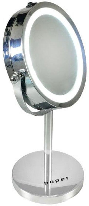 Beper - dubbelzijdige verlichte opmaak spiegel - 15 cm - 40.290