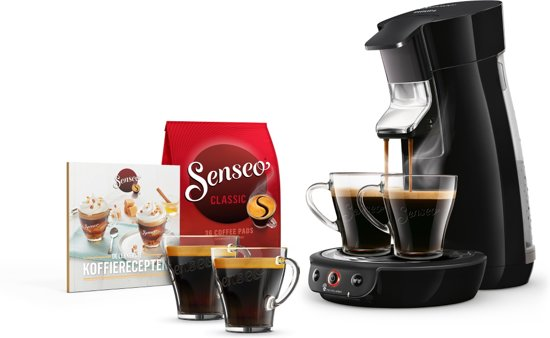 Philips Senseo Viva Café HD6563/60 - Koffiepadapparaat met Cadeaupakket - Zwart