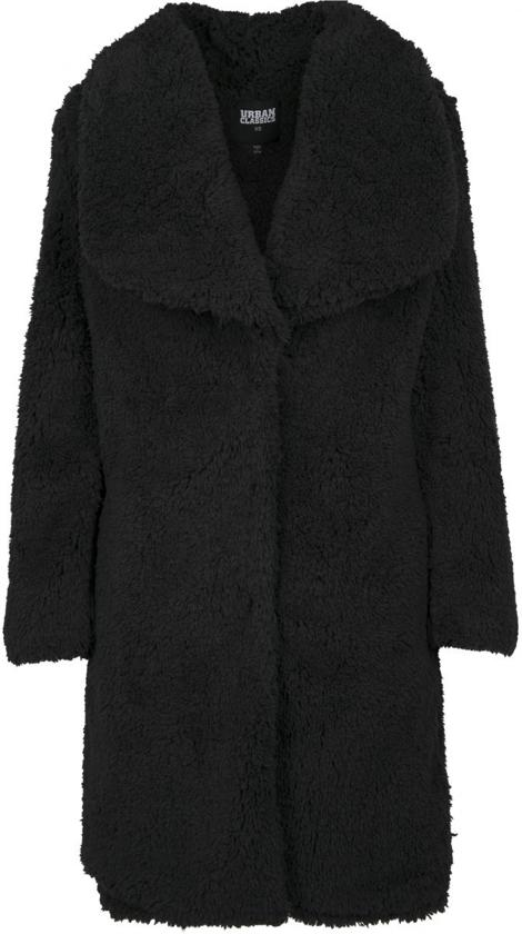 Dames Soft Sherpa Coat zwart