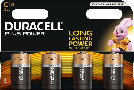 Duracell C Plus Power Batterijen - 4 stuks