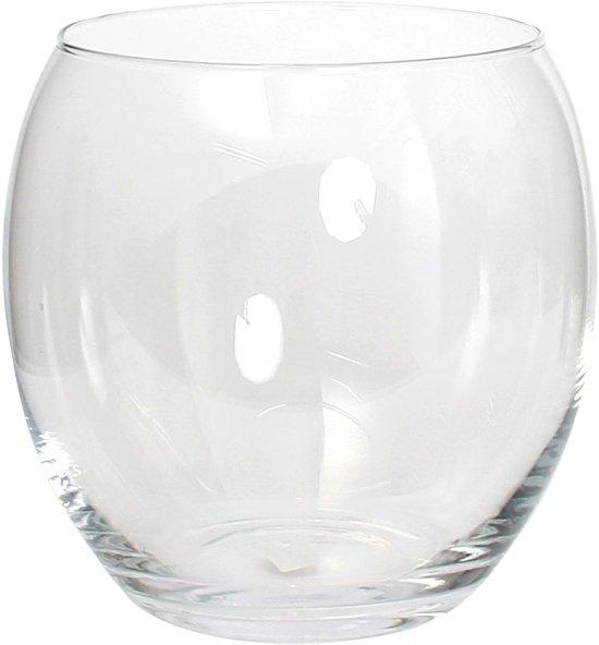 Glazen Vaas Rond Groot.Bol Com Mica Decorations Vince Vaas Transparant H24 Cm Glas