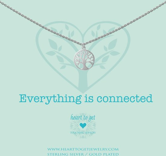 Heart to Get necklace, silver, tree of life, everything is connected