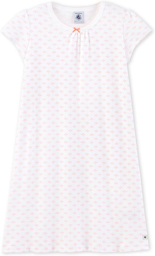 b3dd6145f6a bol.com | Petit Bateau Meisjes Nachthemd - wit ecume - /roze venus ...