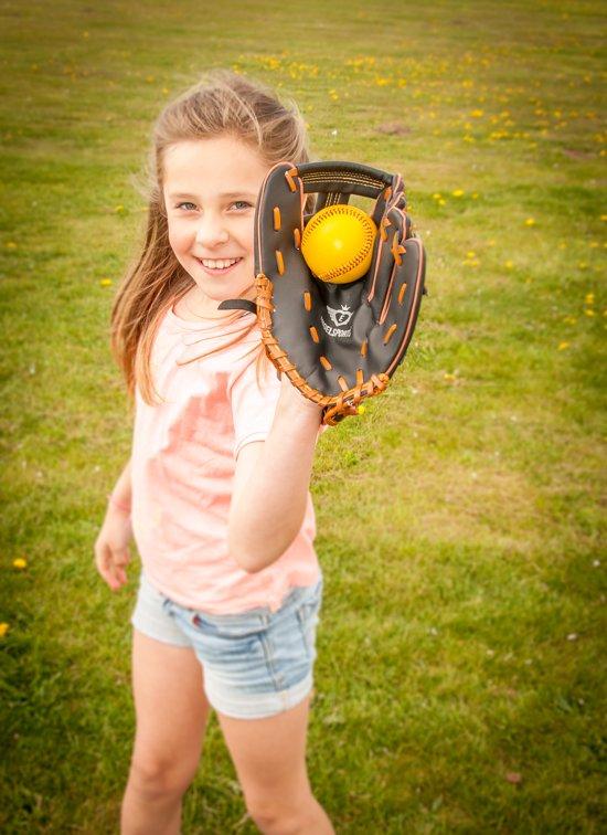 Angel Sports Honkbal Junior 9 Inch - Geel