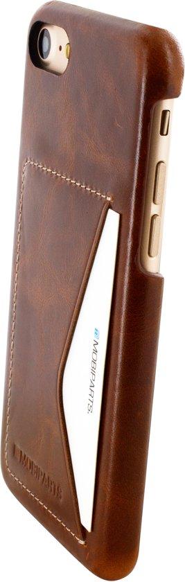 Mobiparts Excellent Backcover voor Apple iPhone 7 / iPhone 8 Oaked Cognac in Neerrepen