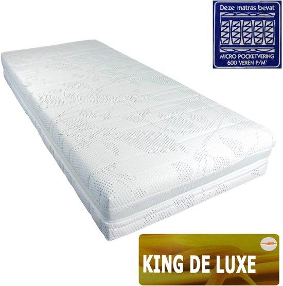 Bol.com slaaploods.nl king de luxe micro pocketvering matras