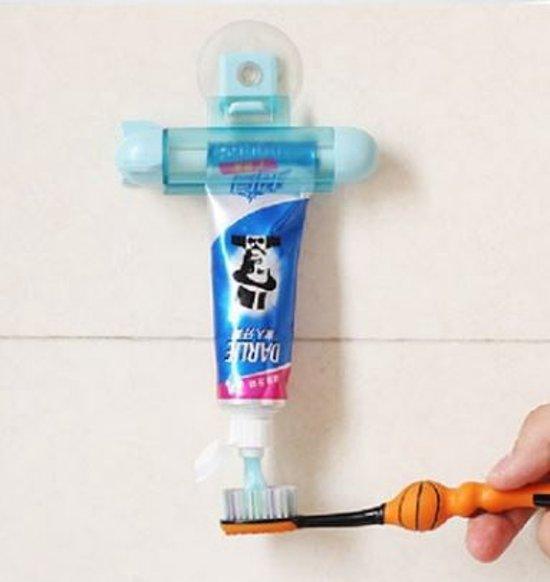 Tube knijper - Tube uitknijper - Tandpasta squeezer - Tubeknijper - Tandpasta dispenser - Tube roller Tandpasta roller Tube houder holder - 1 stuks Blauw