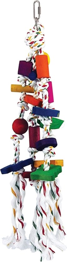 Nobby papegaaien-toy hout 4 bloks mix 40 cm - 1 st