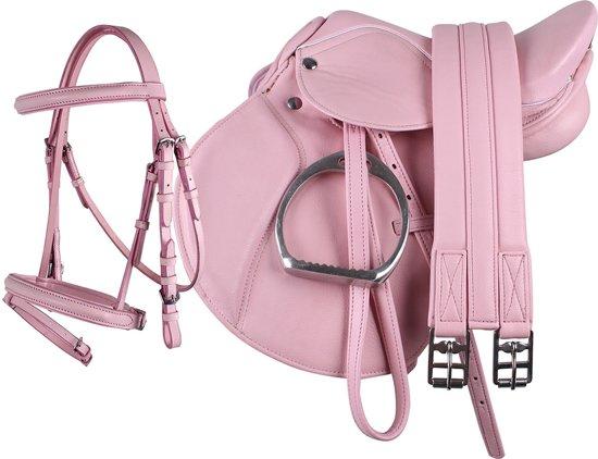 QHP Complete zadelset Roze Pony
