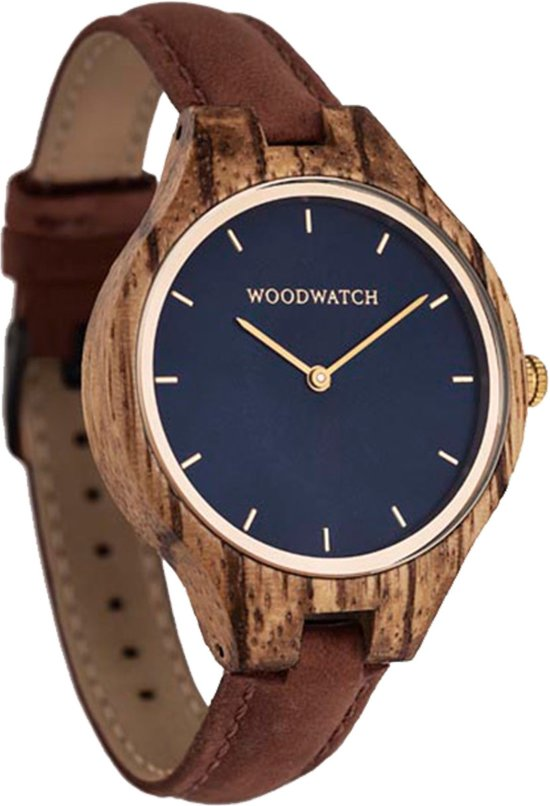 De officiële WoodWatch   Golden Sky Pecan   Houten horloge dames