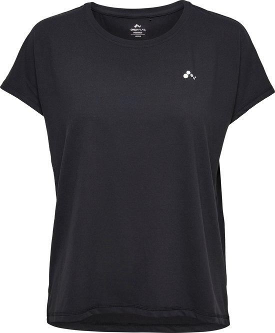 Only Play Aubree Loose Sportshirt Dames - Black - Maat L